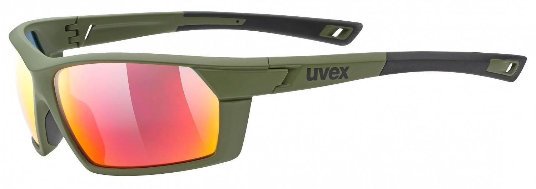uvex-sportstyle-225-sportbrille-farbe-7716-olive-green-mat-mirror-red-s3-, 33.90 EUR @ sportolino-de