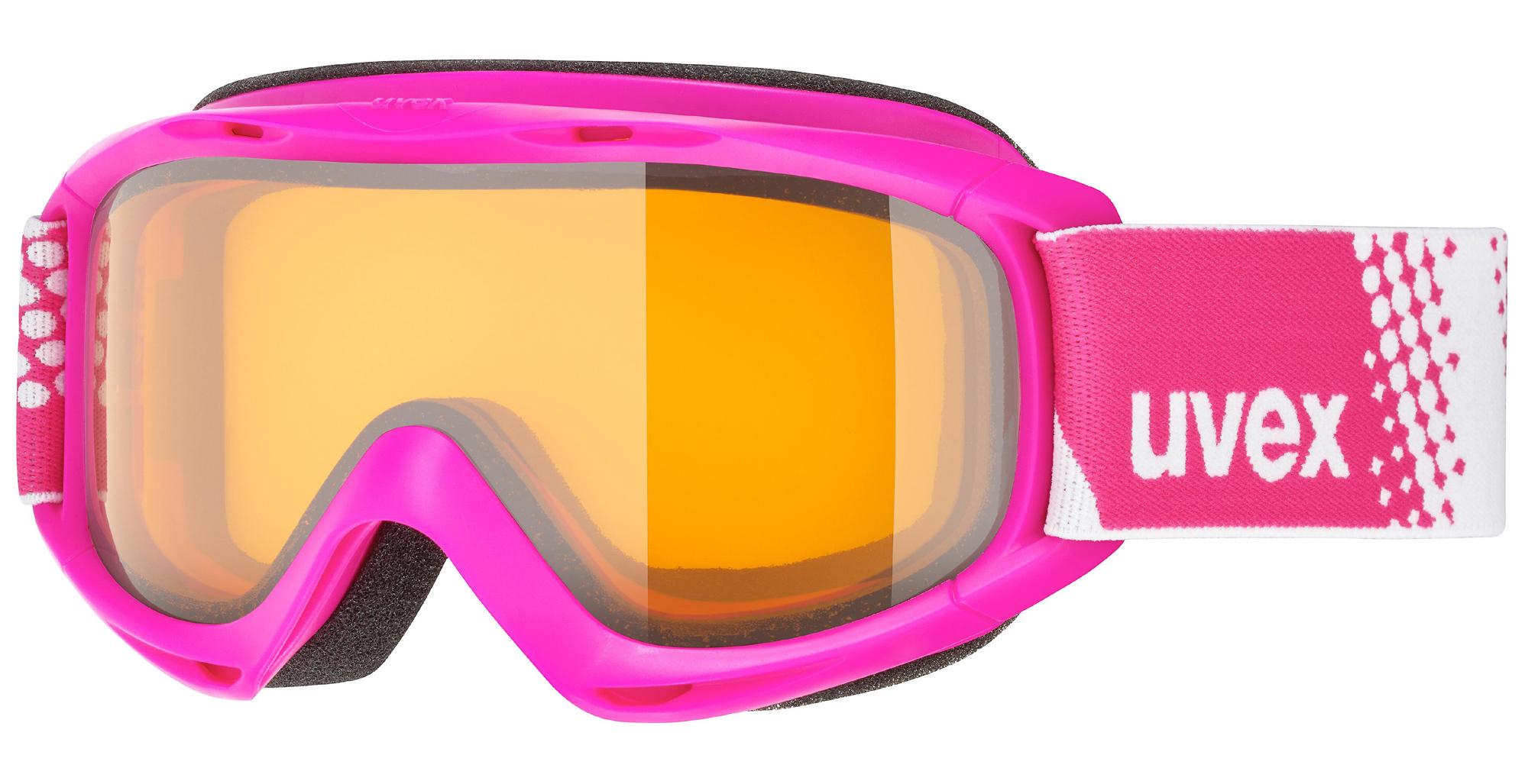 uvex Kinderskibrille Slider (Farbe 7030 pink, lasergold lite clear (S1))