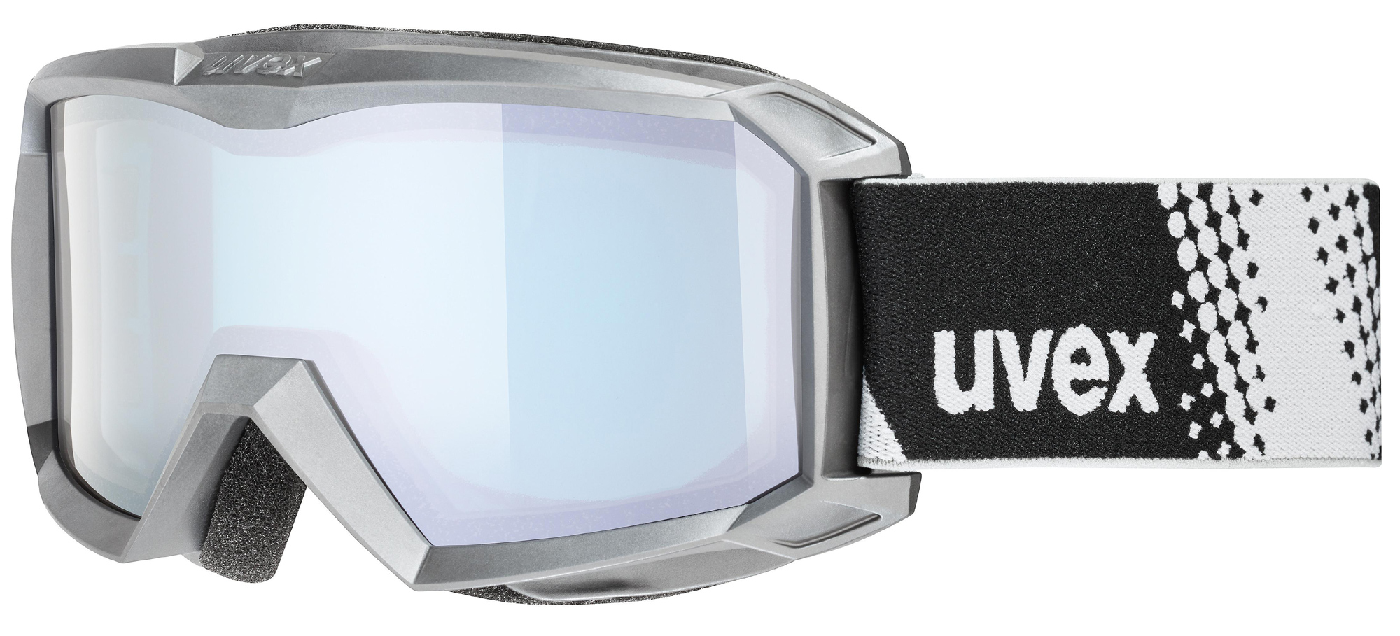 uvex Flizz FM Kinderskibrille (Farbe 2030 anthracite, mirror silver blue (S2))
