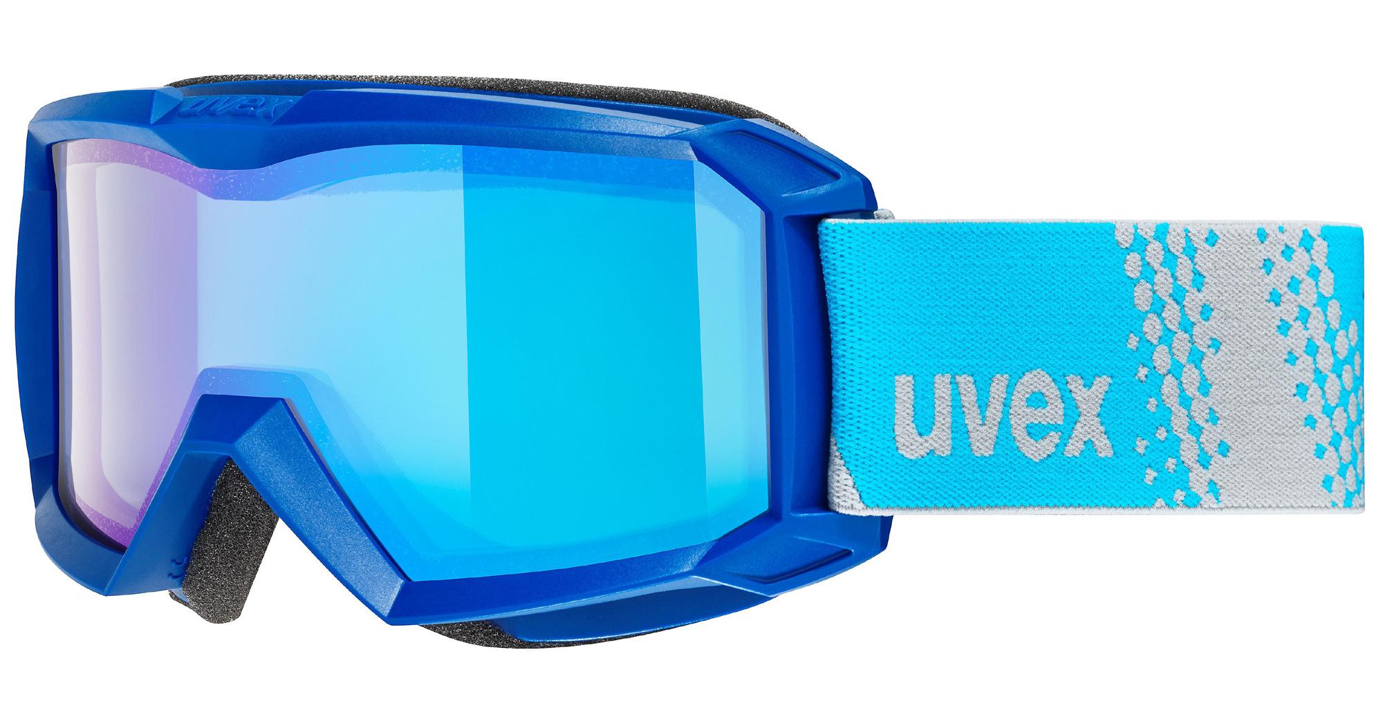 uvex Flizz FM Kinderskibrille (Farbe 4030 blue, mirror blue blue (S1))