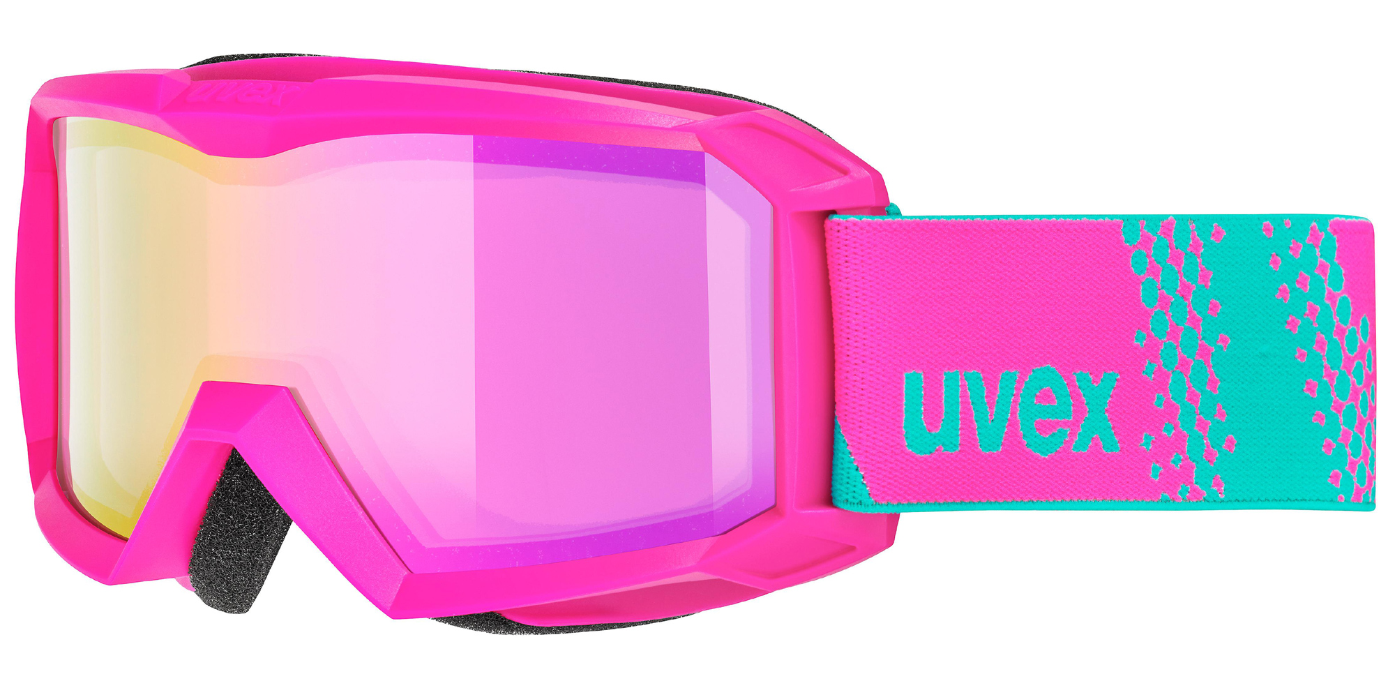 uvex Flizz FM Kinderskibrille (Farbe 9030 pink, mirror pink rose (S1))