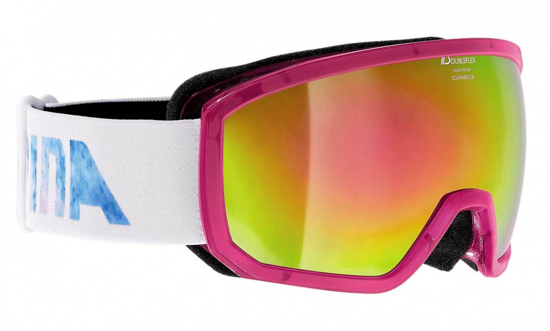 Alpina Scarabeo Junior Brillentäger Skibrille MM (Farbe: 852 transluzent pink, Scheibe: MULTIMIRROR pink)