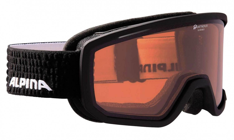 Alpina Scarabeo Brillentäger Skibrille QH (Farbe: 032 black matt, Scheibe: QUATTROFLEX HICON)