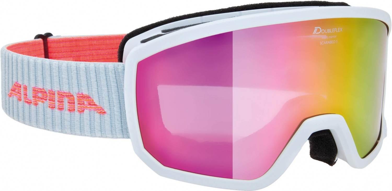 alpina-scarabeo-s-skibrille-multimirror-farbe-811-white-scheibe-multimirror-pink-