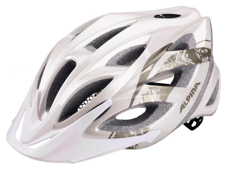 Alpina Seheos Fahrradhelm (Größe: 51-56 cm, 11 white/prosecco)
