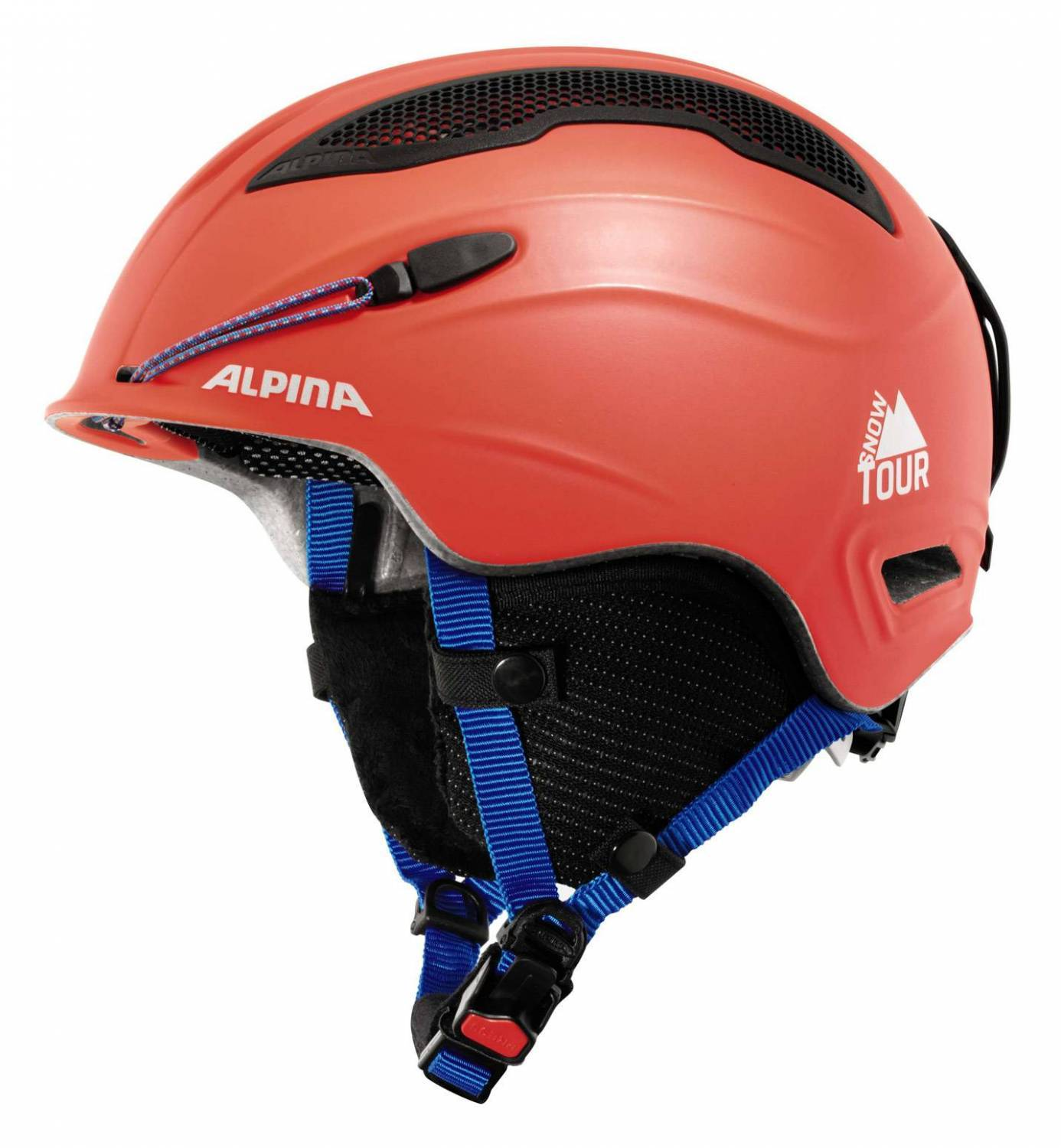 Alpina Snow Tour incl Earpad Ski helmet red black