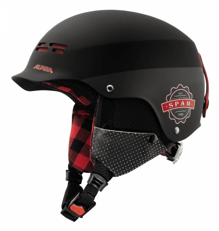 Alpina Spam Cap Skihelm (Größe: 54-57 cm, 29 black/lumberjack matt) Sale Angebote