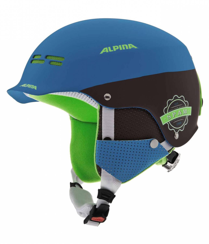 Alpina Spam Cap Skihelm (Größe: 54-57 cm, 83 blue/brown matt) Sale Angebote