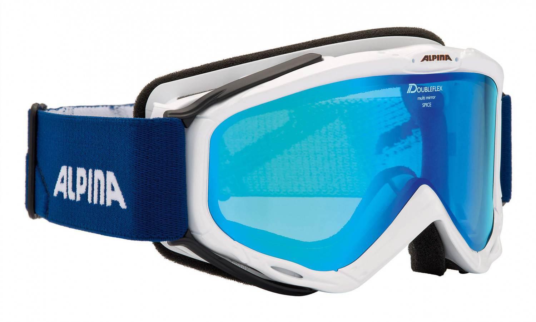 Alpina Spice HM Skibrille (Farbe: 811 weiß, Scheibe: Spiegel blue) Sale Angebote