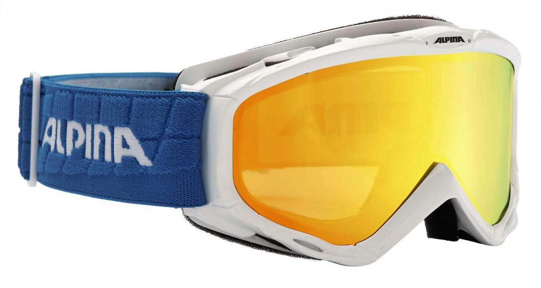 Graustein Angebote Alpina Spice R Skibrille (Farbe: 812 weiß/blau, Scheibe: MULTIMIRROR orange)