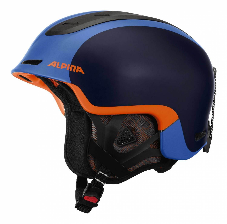 Alpina Spine Freeride Skihelm (Größe: 58-61 cm, 80 blue/orange matt)