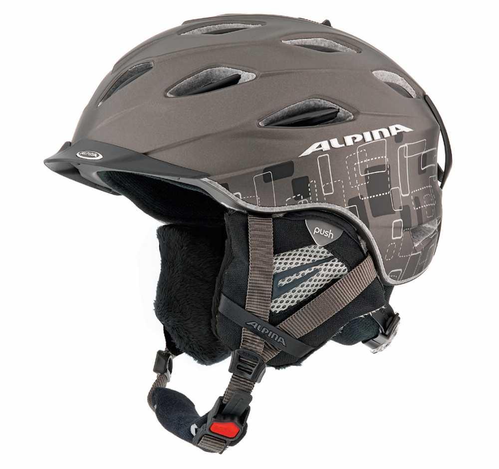 Alpina Supercybric Skihelm (Kopfumfang: 55-58 cm, Farbe: 28 anthrazit/schwarz seidenmatt)