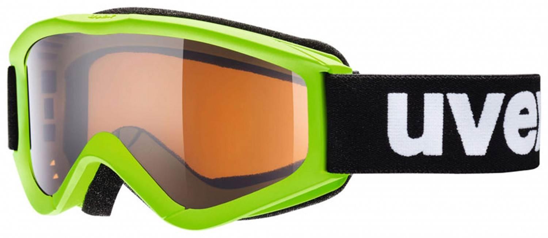 uvex Kinderskibrille Speedy Pro (Farbe: 7212 lightgreen, single lens, lasergold)