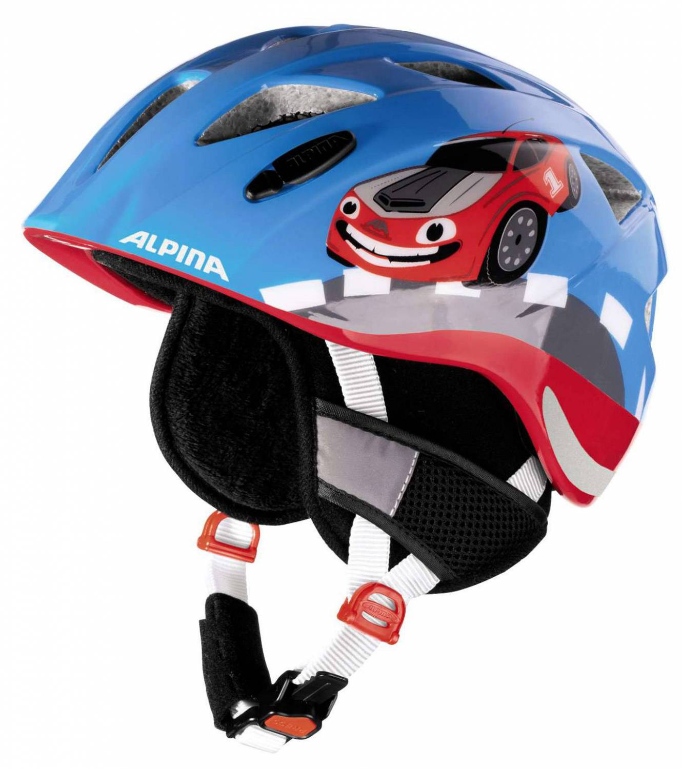 Alpina Ximo Flash Winter Kinderfahrradhelm (Größe 49 54 cm, 80 red care)