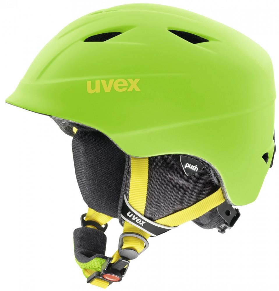 uvex Airwing 2 Pro matt Kinderskihelm (Größe 48 52 cm, 77 applegreen mat)
