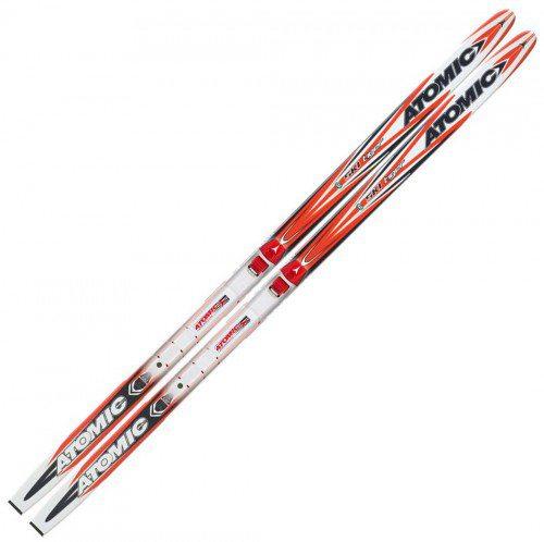 Atomic Ski Tiger Grip Langlaufski inklusive Bindung (Skilänge: 130 cm (ca. 30 bis 45 kg), Farbe: red/white) jetztbilligerkaufen