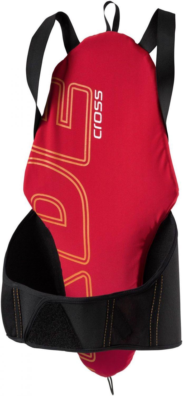 Komperdell Pack Crash Protektor Junior (Größe: 152, 201 schwarz/rot-orange) - broschei