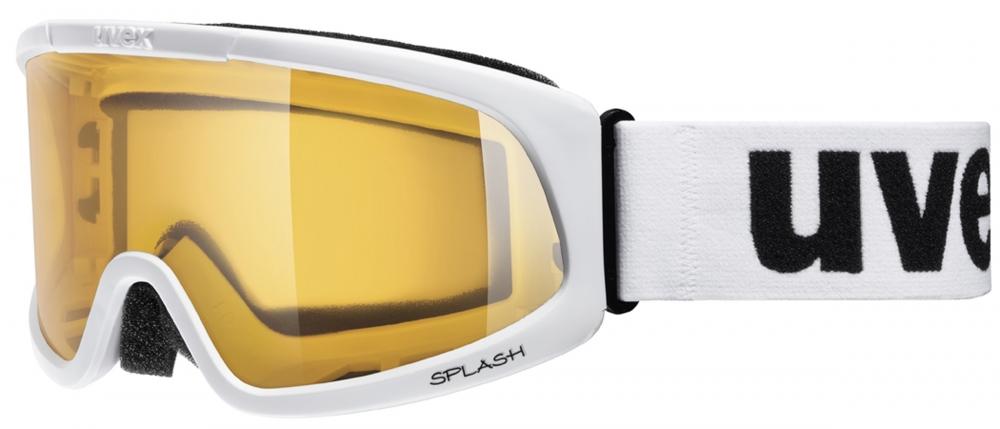 uvex Splash Skibrille (Farbe: 1119 white, single lens/lasergold lite)
