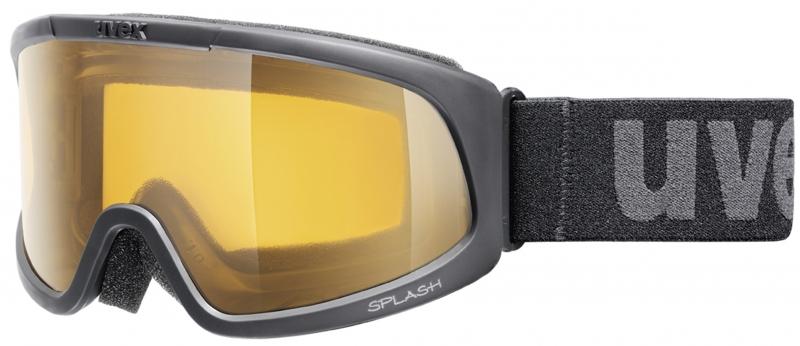 Haidemühl Angebote uvex Splash Skibrille (Farbe: 2219 black, single lens/lasergold lite)