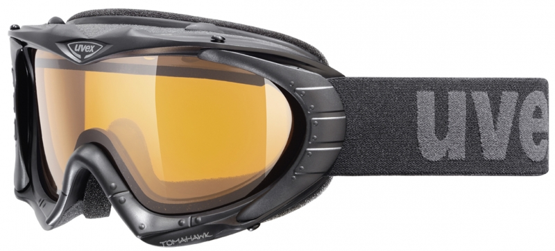 uvex Skibrille Tomahawk (Farbe: 2229 black, double lens, Scheibe: gold lite (S1))