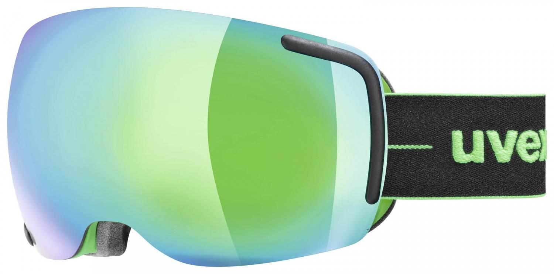 uvex Big 40 Skibrille (Farbe: 7226 black/green ...
