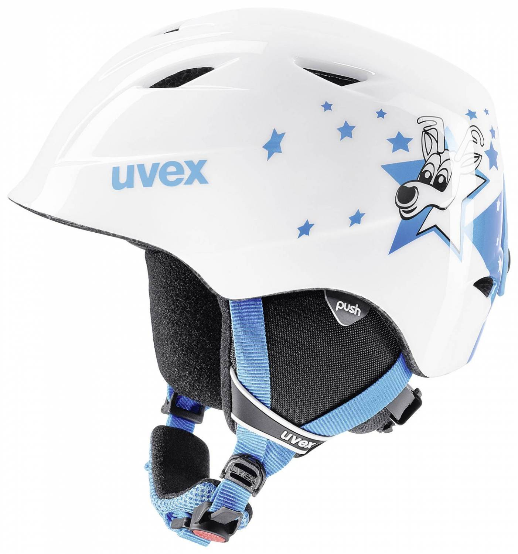 uvex Kinderskihelm Airwing 2 (Größe 48 52 cm, 18 blue star)