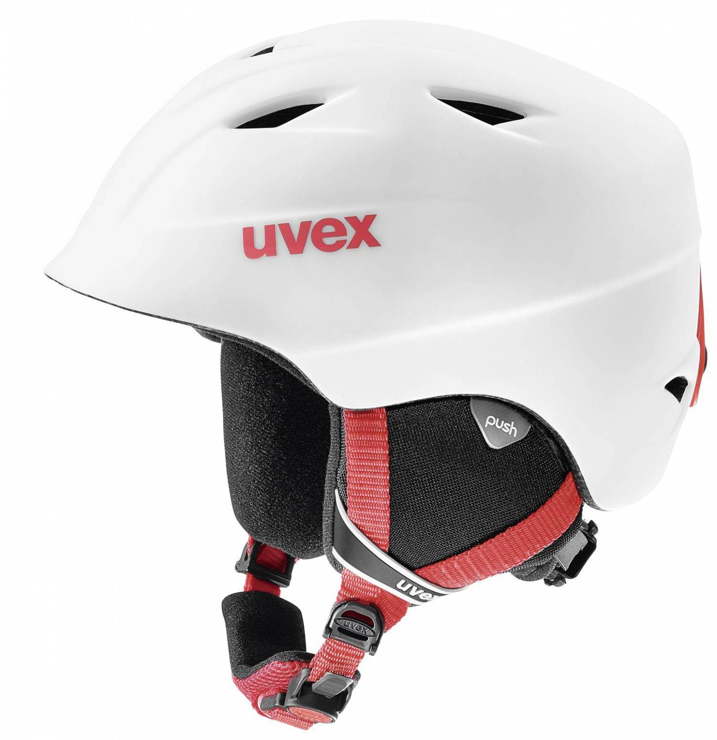 uvex Airwing 2 matt Kinderskihelm (Größe 54 58 cm, 12 white red mat)