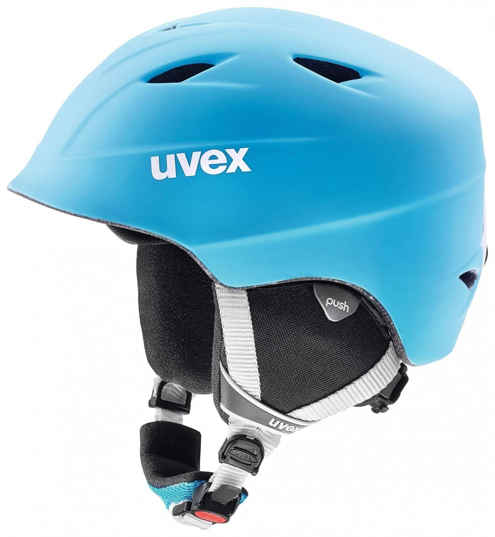 uvex Airwing 2 Pro matt Kinderskihelm (Größe 48 52 cm, 45 liteblue white mat)