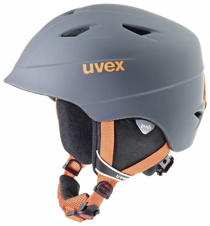 uvex Airwing 2 Pro matt Kinderskihelm (Größe 52 54 cm, 58 titanium orange mat)