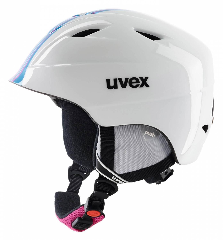 uvex Airwing 2 Race Kinderskihelm (Größe 48 52 cm, 19 white pink)