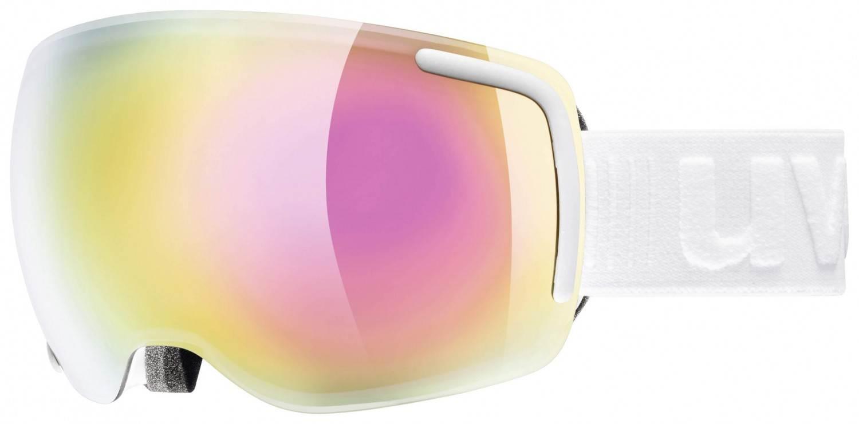 uvex Big 40 Skibrille (Farbe: 1026 white mat, mirror pink clear)