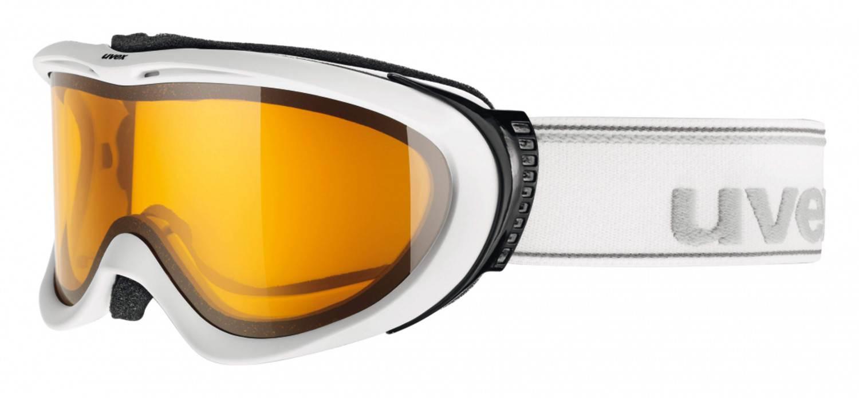 uvex Brillenträgerbrille Comanche Optic (Farbe: 1029 white mat, lasergold lite/clear) Preisvergleich