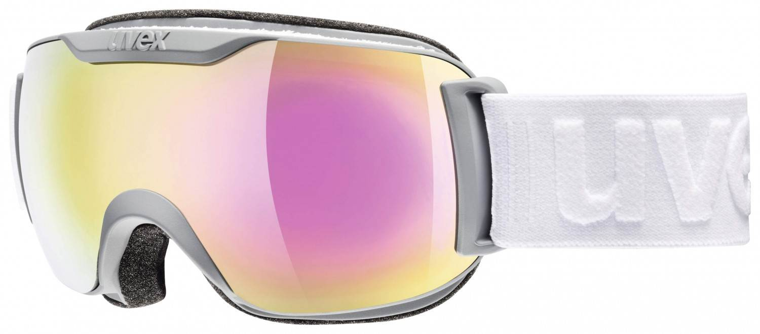 uvex Skibrille Downhill 2000 small Full Mirror (Farbe: 5026 coal mat, mirror pink/clear)