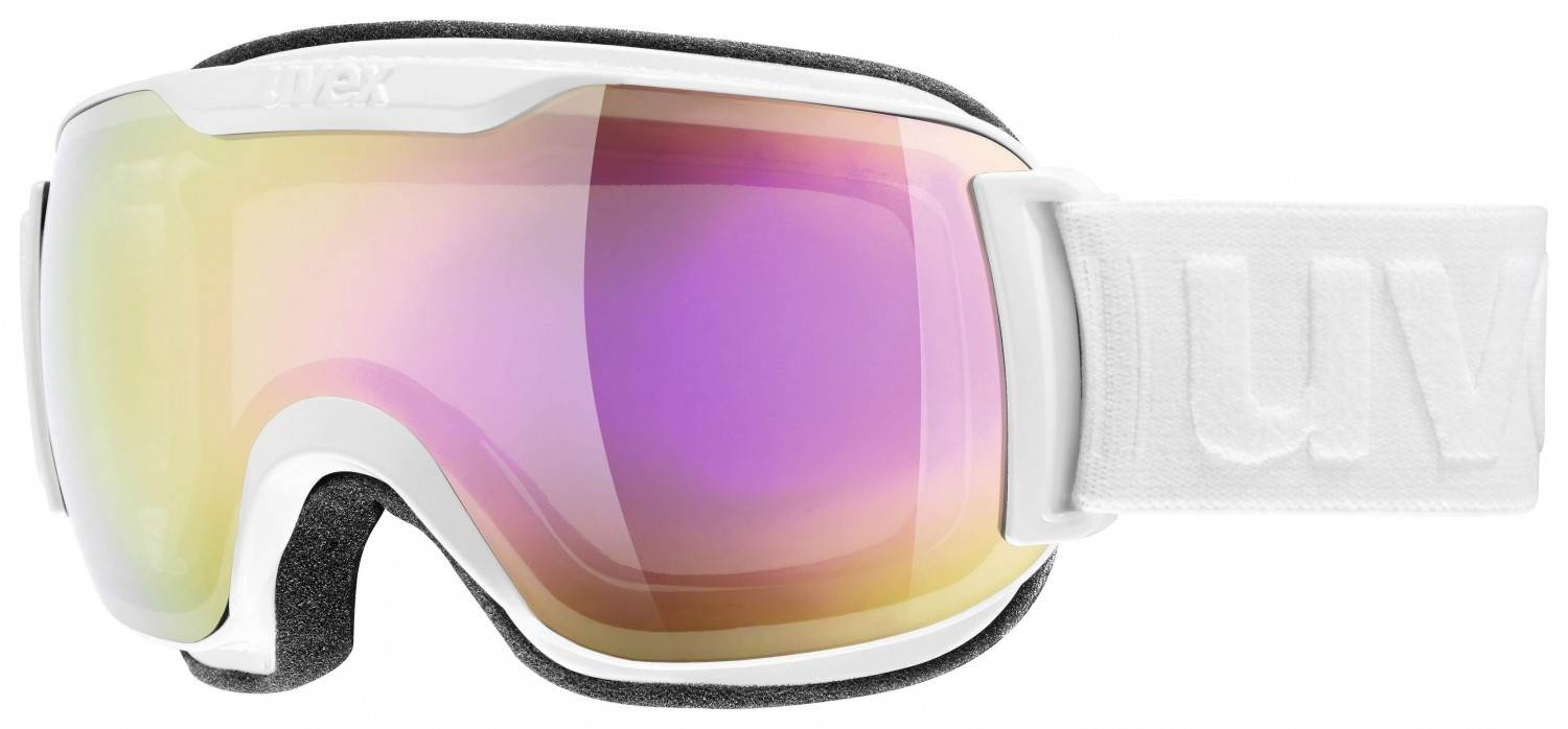 uvex Skibrille Downhill 2000 small Full Mirror (Farbe: 1026 white, mirror pink/clear)