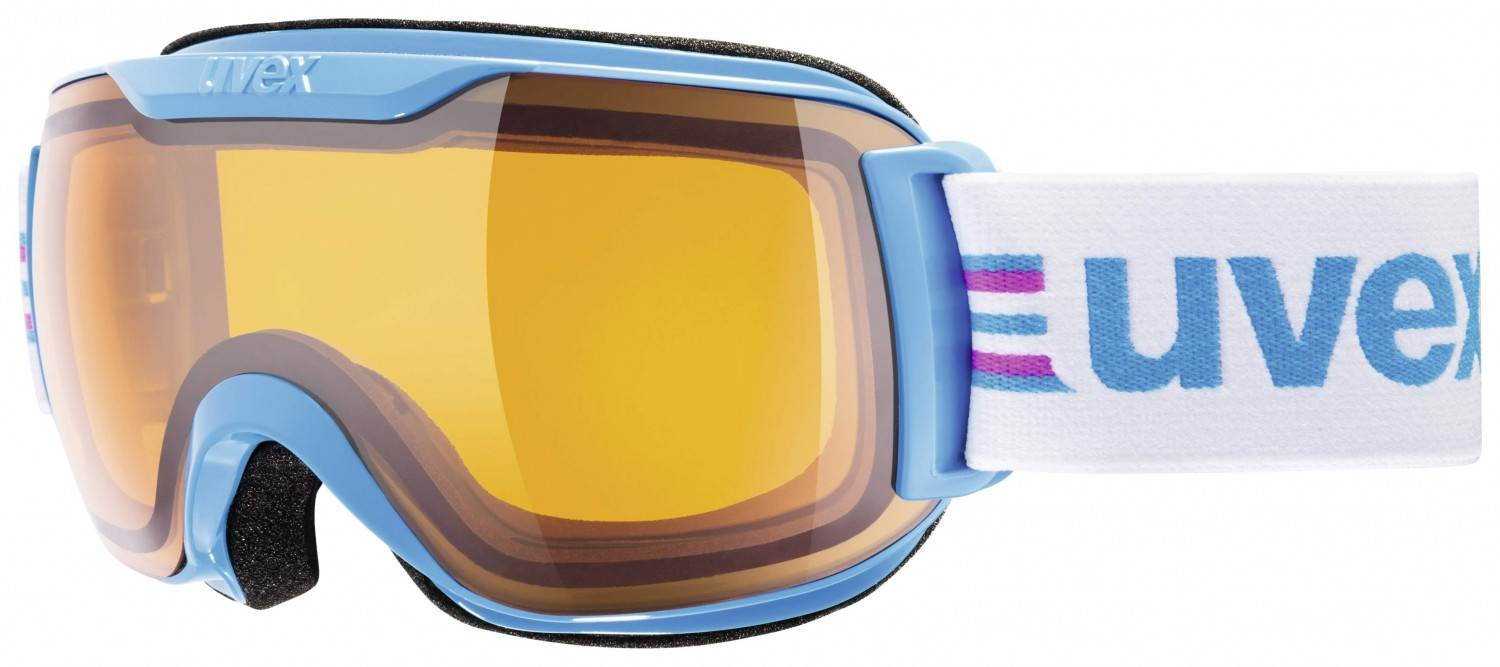 uvex downhill 2000 small Race Skibrille (Farbe: 4929 cyan/pink, lasergold lite/clear)
