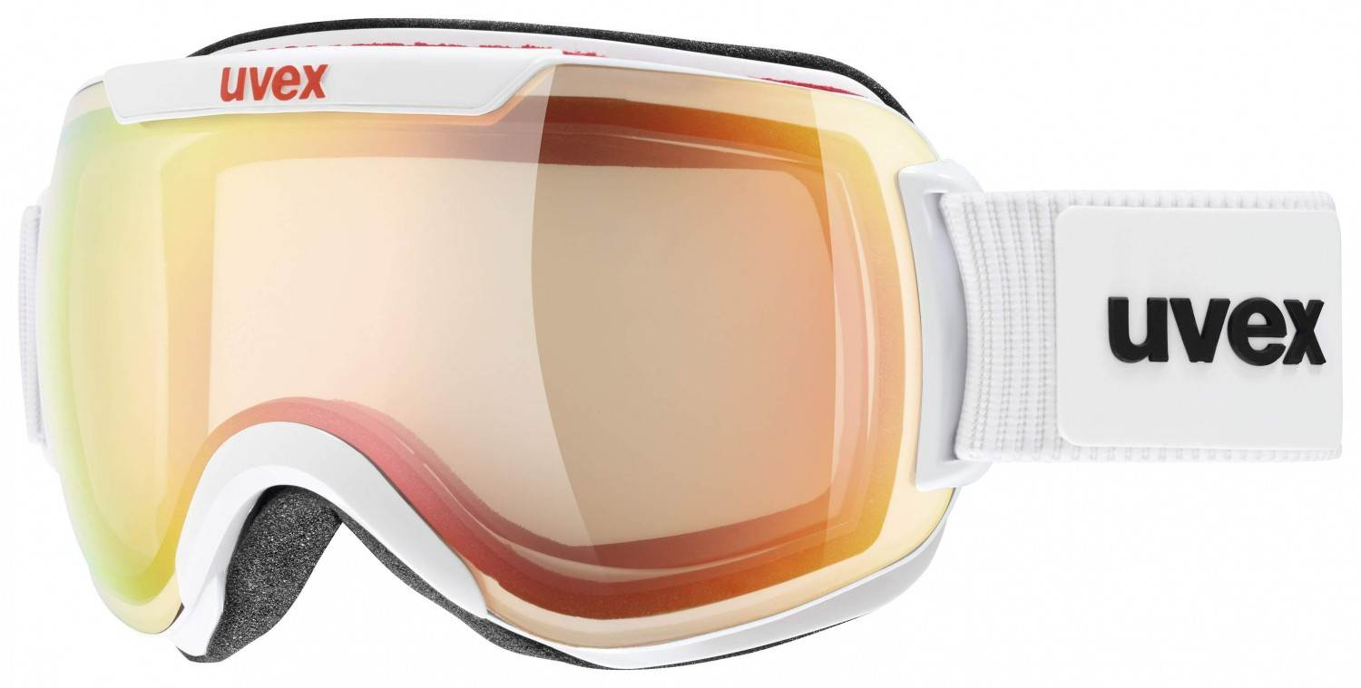 Haasow Angebote uvex Downhill 2000 Variomatic Skibrille (Farbe: 1023 white mat, mirror blue/variomatic/clear)