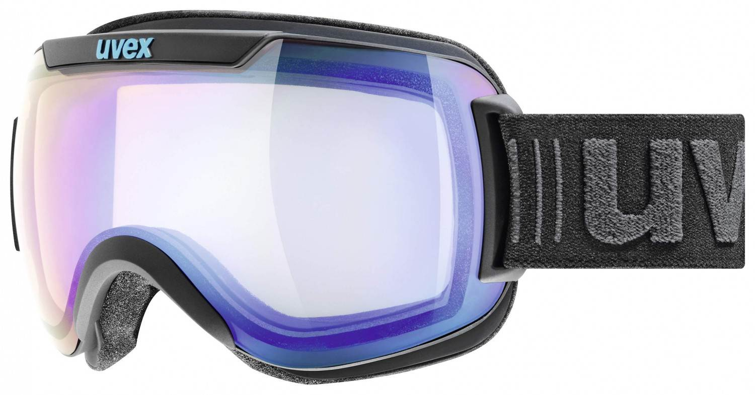Hosena Angebote uvex Downhill 2000 Variomatic Skibrille (Farbe: 2023 black mat, mirror blue/variomatic/clear)