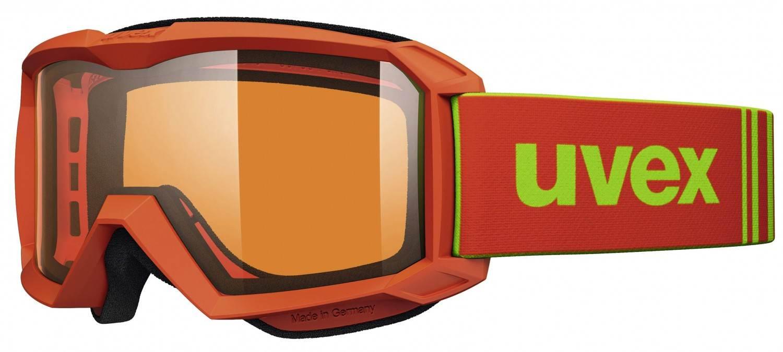 uvex Flizz Lasergold Kinderskibrille (Farbe 3012 orange mat, lasergold clear)