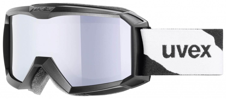uvex Flizz Litemirror Kinderskibrille (Farbe 2026 black mat, litemirror silver clear)