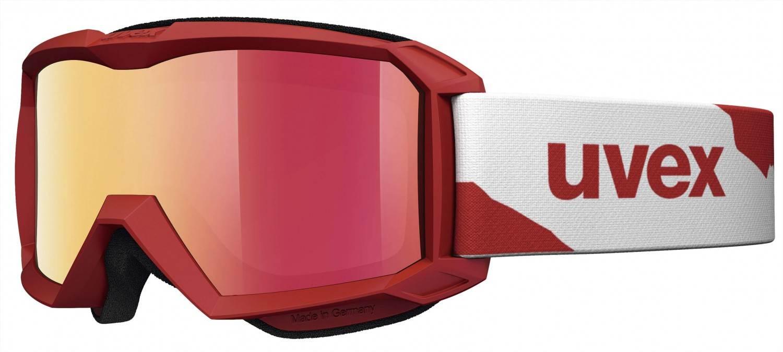 uvex Flizz Litemirror Kinderskibrille (Farbe 3026 red mat, litemirror red clear)