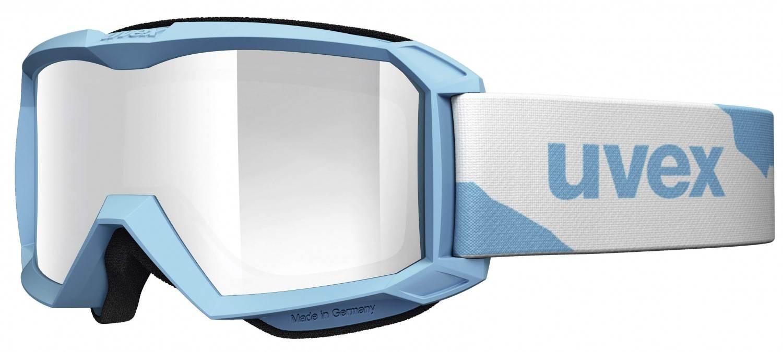 uvex Flizz Litemirror Kinderskibrille (Farbe 4026 iceblue mat, litemirror red clear)