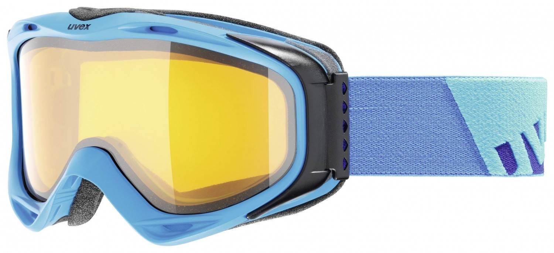 uvex g.gl 300 Brillenträger Skibrille (Farbe: 4029 ice mat, lasergold lite/clear)