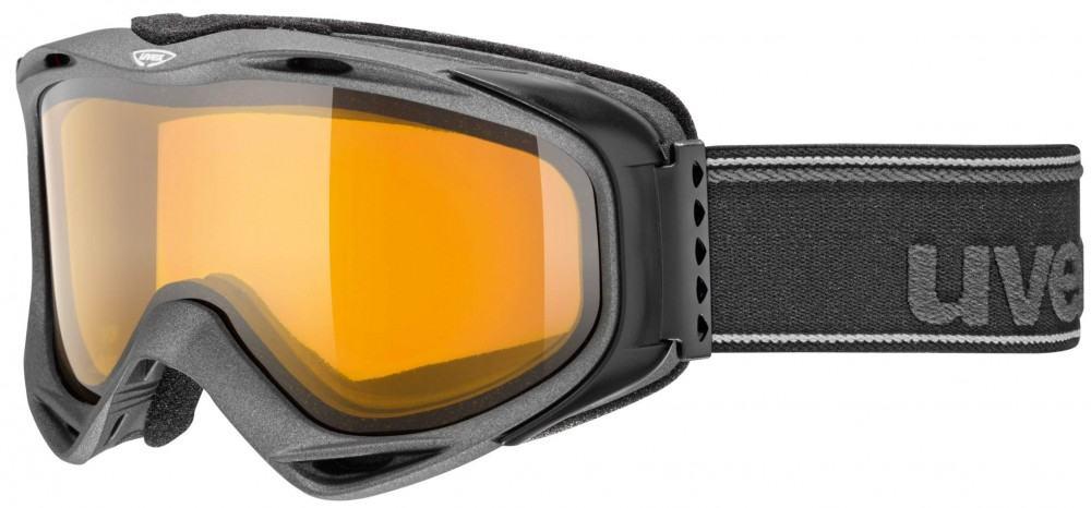 uvex g.gl 300 Brillenträger Skibrille (Farbe: 2029 black, double lens, lasergold lite/clear)