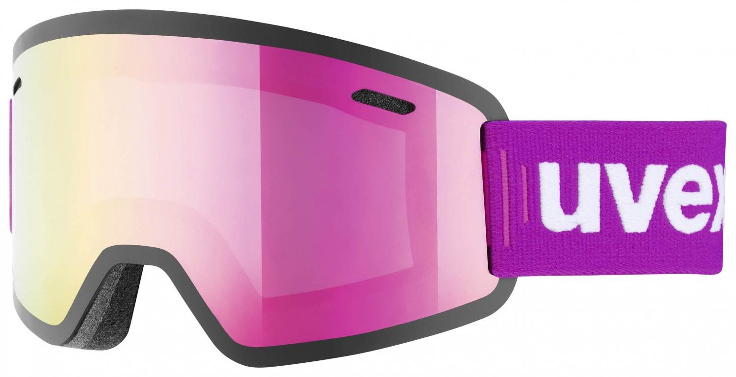 uvex Gravity Full Mirror Skibrille (Farbe: 9026 pink, mirror pink/clear)