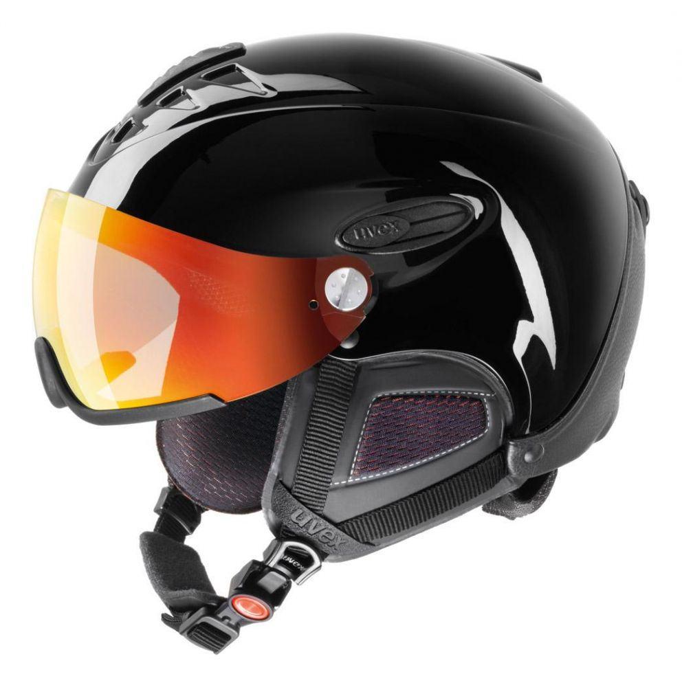 uvex HLMT 300 Visor Style Skihelm (Größe: M-L = 58-60 cm, Farbe: 22 schwarz) Sale Angebote