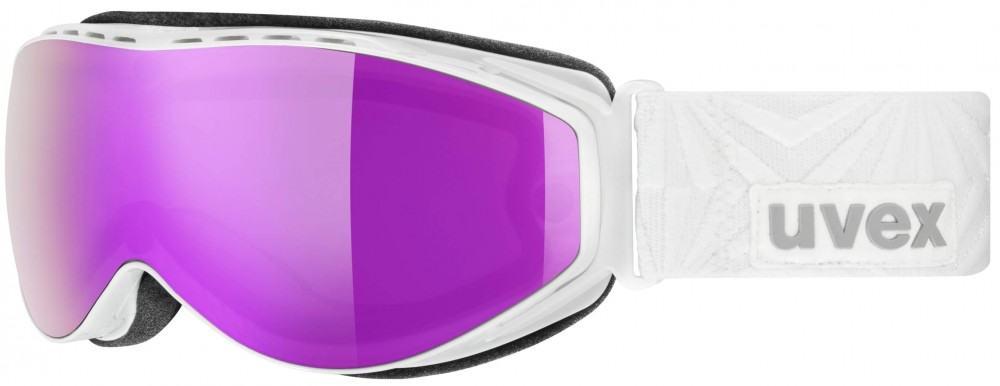 uvex Hypersonic CX Skibrille (Farbe: 1026 perlwhite, litemirror pink/lasergold lite, lasergold lite/clear)