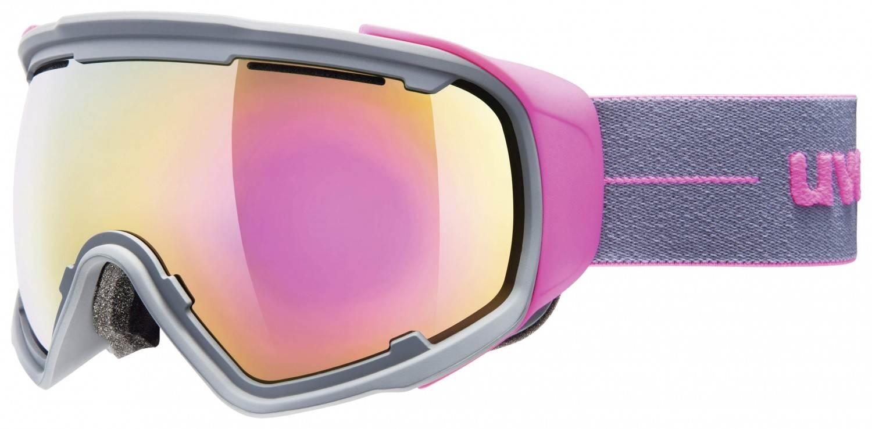 uvex Jakk Sphere Skibrille (Farbe: 5026 grey pink mat, mirror pink/clear)