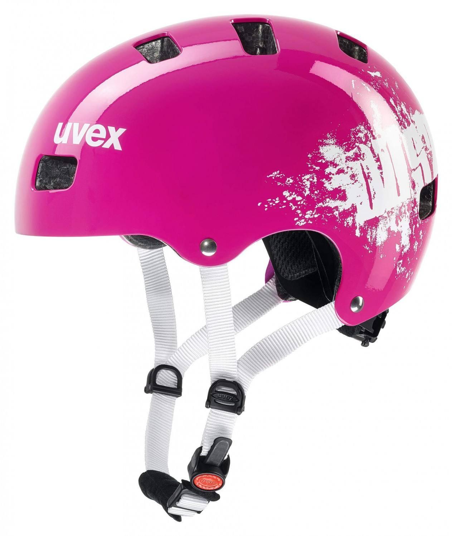 uvex Kid 3 Kinder Fahrradhelm (Größe 51 55 cm, 19 pink dust)
