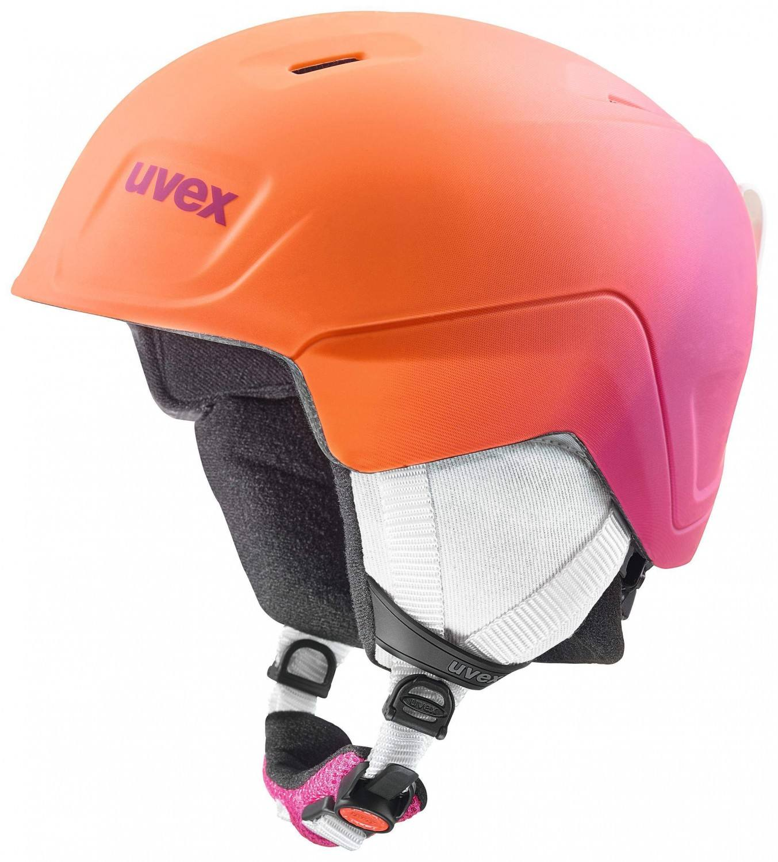 uvex Manic Pro Kinderskihelm (Größe 46 50 cm, 98 pink orange metallic mat)