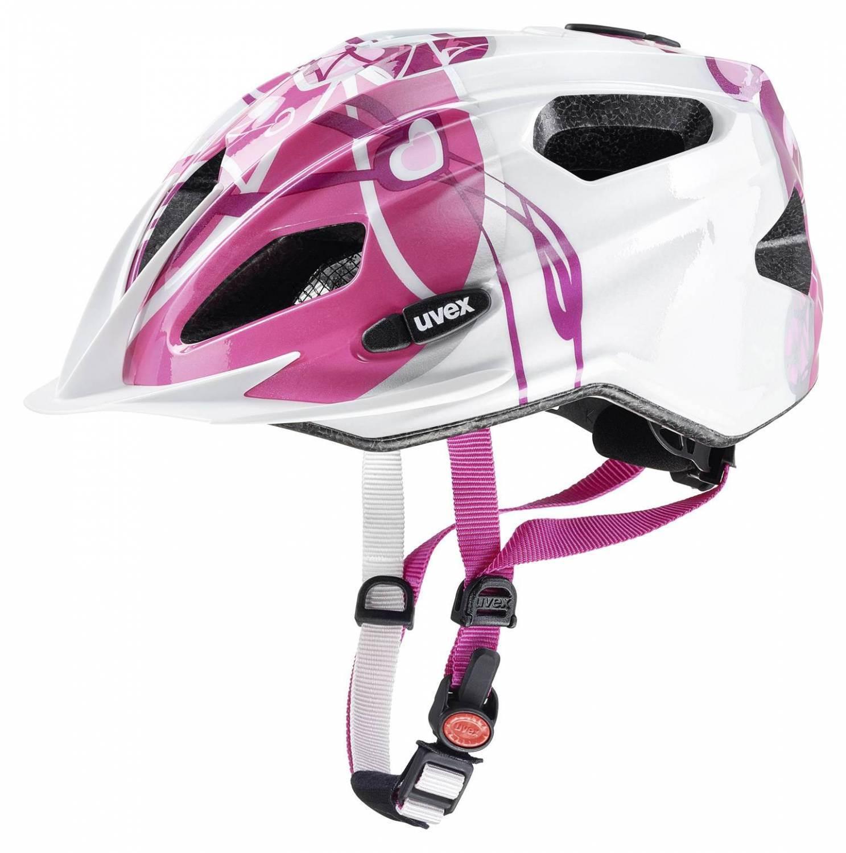 Kinder Fahrradhelm uvex Quatro Junior (Größe 50 55 cm, 21 pink silver)